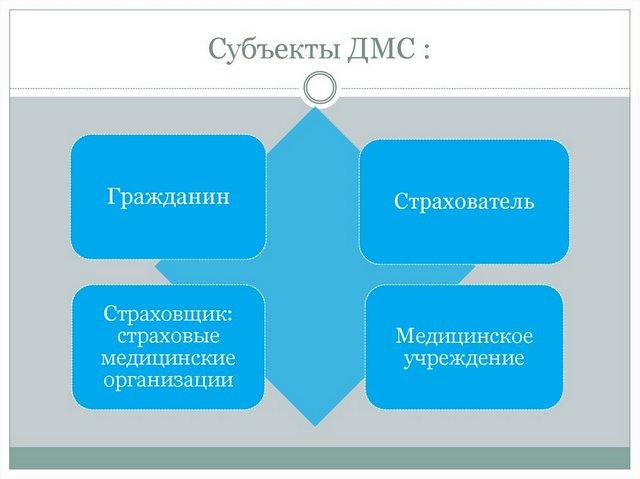 Субъекты ДМС